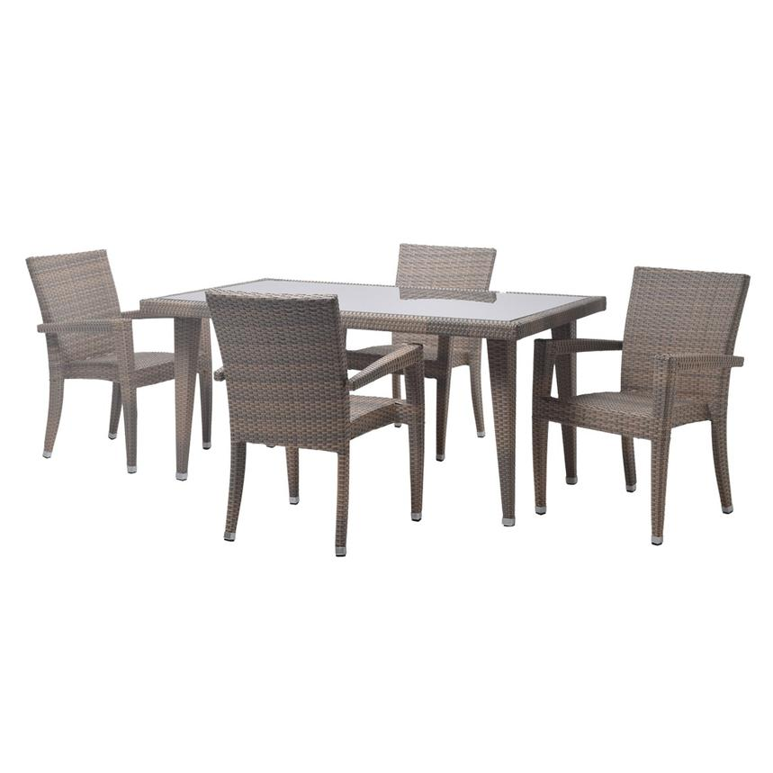 Neilina Brown 5-Piece Patio Set  main image, 1 of 11 images.