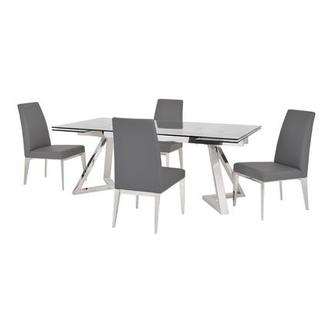 Suri Gray 5-Piece Formal Dining Set