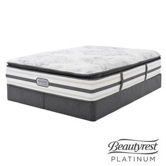 Stone Mountain King Mattress Set w/Low Foundation by Simmons Beautyrest Platinum