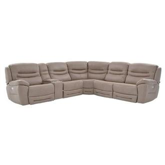 Dan Light Gray Power Motion Sofa w/Right & Left Recliners