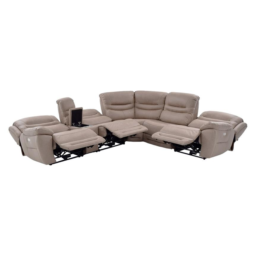 Dan Light Gray Power Motion Sofa W Right Left Recliners El
