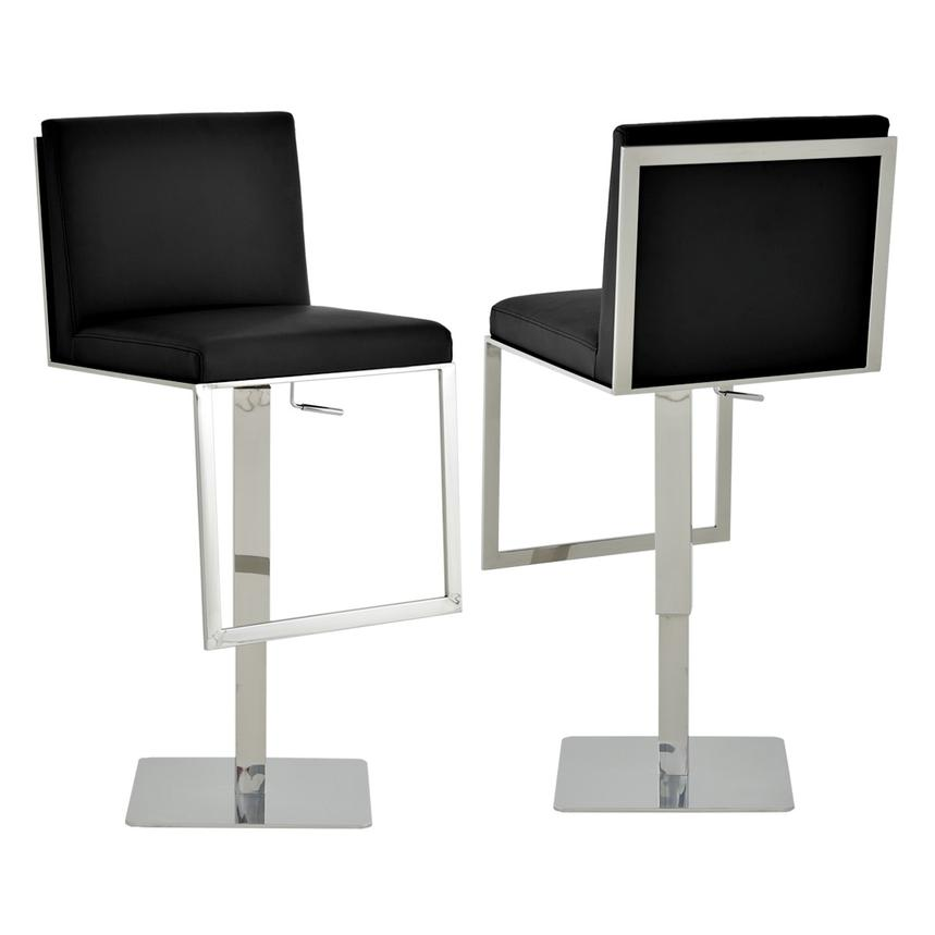 Aventura Black Adjustable Stool  main image, 1 of 6 images.