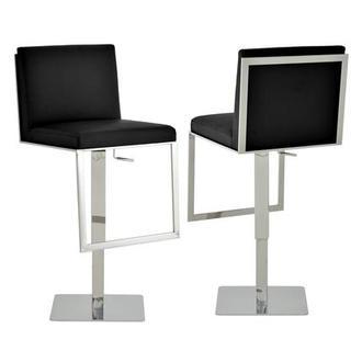 Comphy Black Adjustable Stool El Dorado Furniture