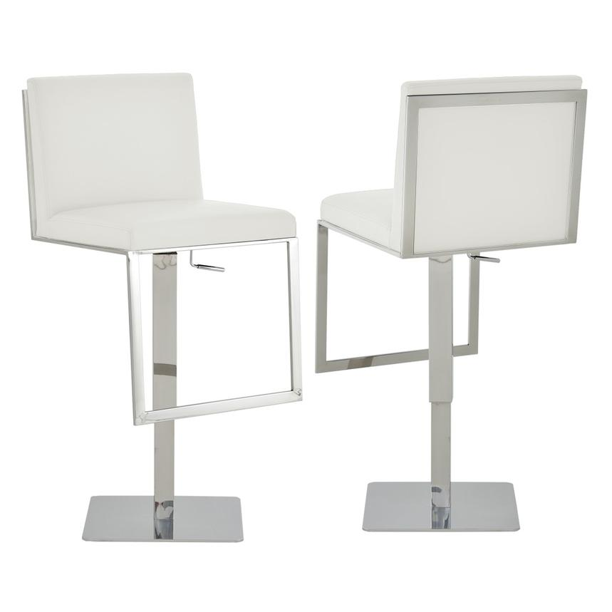 Aventura White Adjustable Stool  main image, 1 of 5 images.