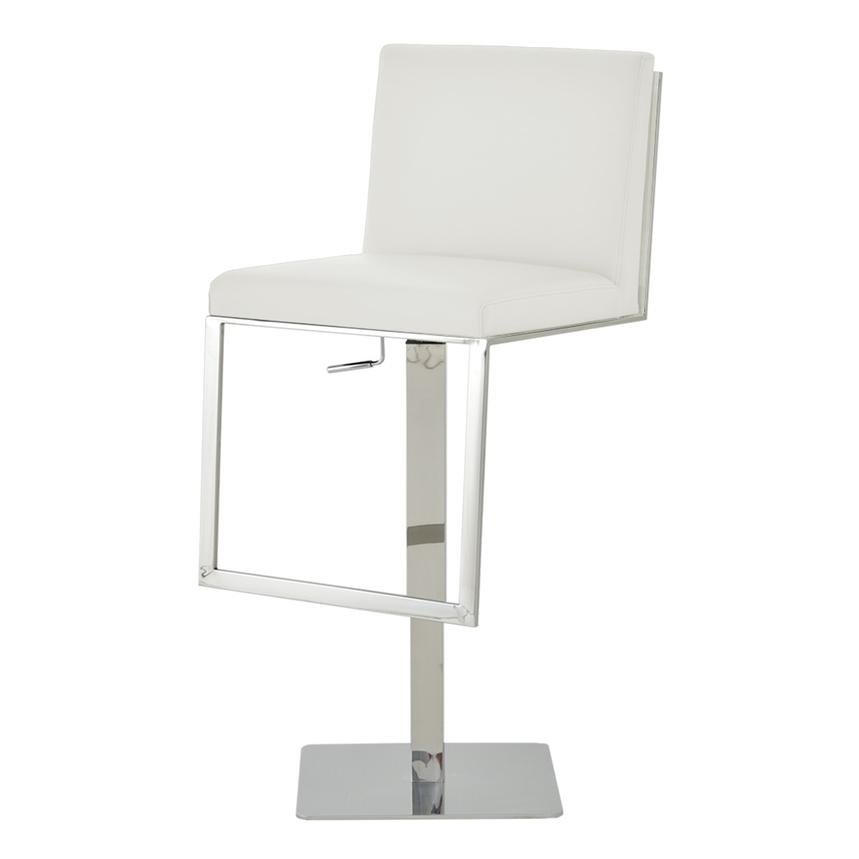 Aventura White Adjustable Stool  alternate image, 2 of 6 images.