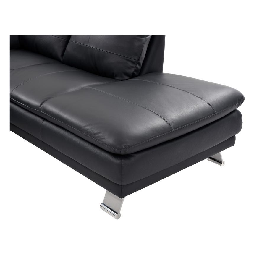 Rio Dark Gray Leather Sofa w/Right Chaise  alternate image, 6 of 8 images.