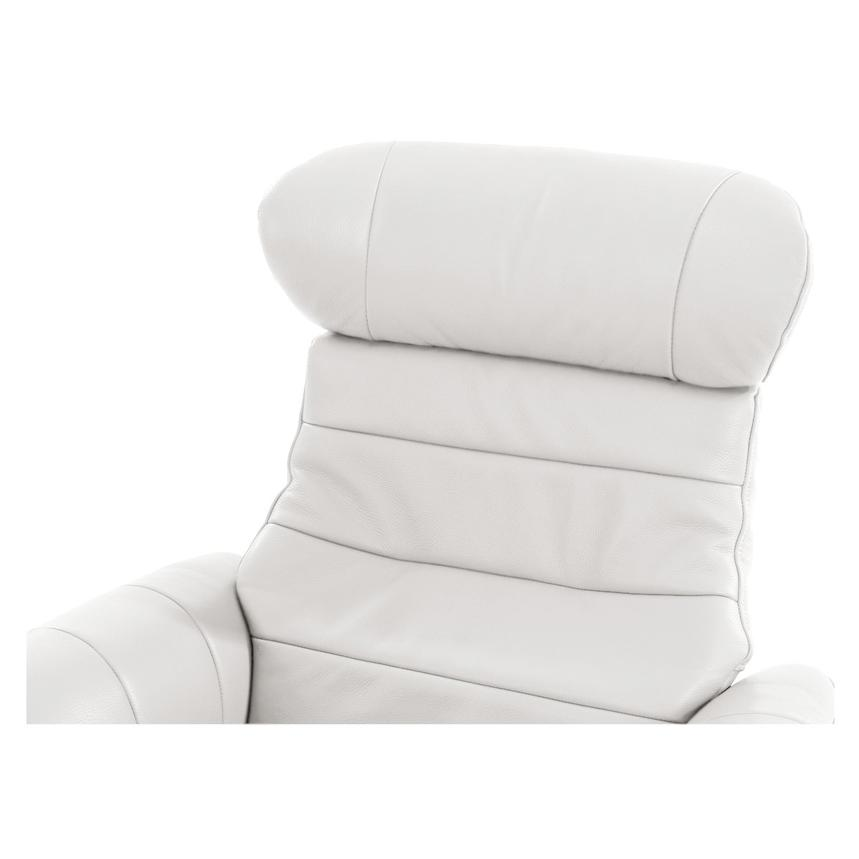 Enzo Pure White Leather Swivel Chair  alternate image, 6 of 10 images.