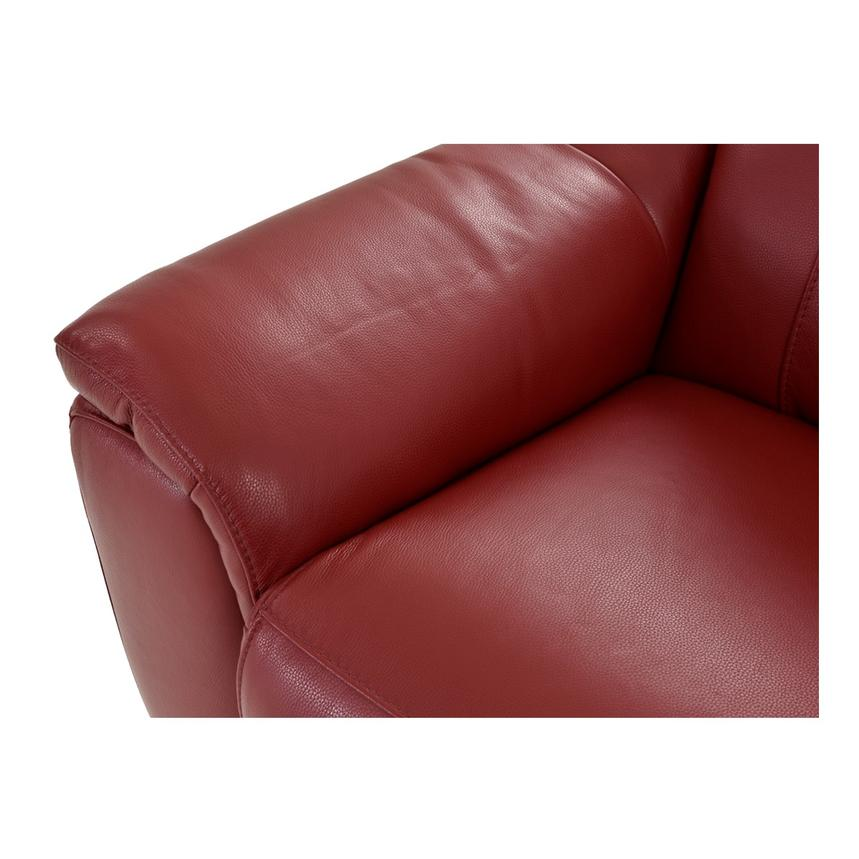 Davis Red Power Motion Leather Sofa w/Right & Left Recliners  alternate image, 6 of 13 images.