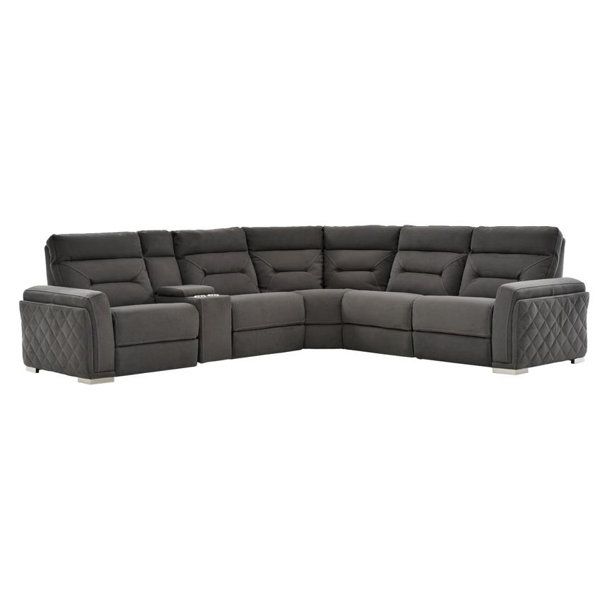 Kim Gray Power Motion Sofa w/Right & Left Recliners  main image, 1 of 12 images.