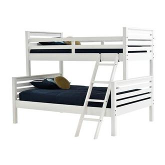 Montauk White Twin Over Full Bunk Bed Made in Brazil