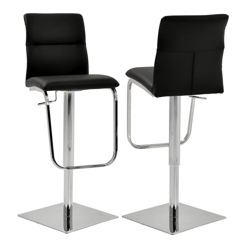 Colette Black Adjustable Stool  main image, 1 of 6 images.