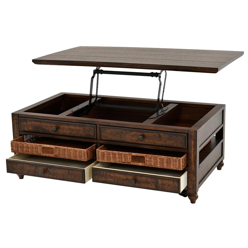 Cottage Lane Lift Top Coffee Table W Casters El Dorado