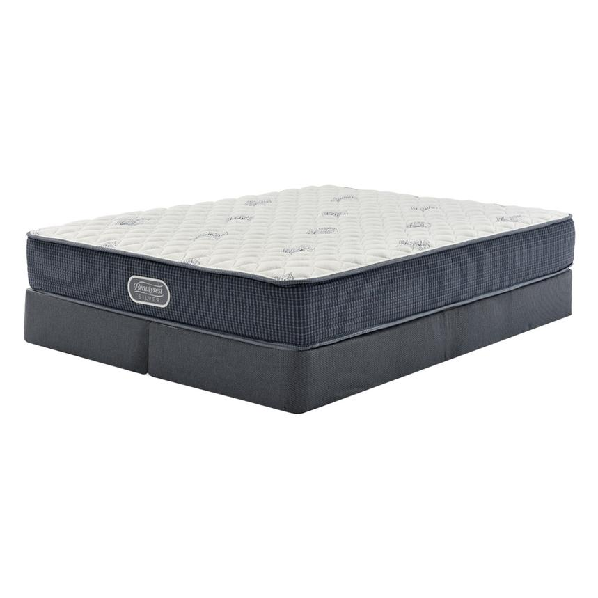 Pacific Heights King Mattress w/Low Foundation by Simmons Beautyrest Silver  main image, 1 of 4 images.