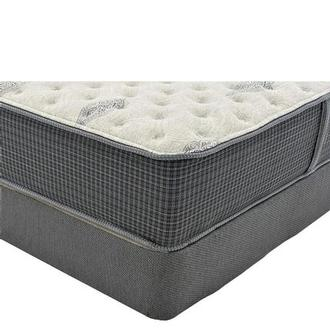 Bay Point Queen Mattress w/Regular Foundation by Simmons Beautyrest Silver