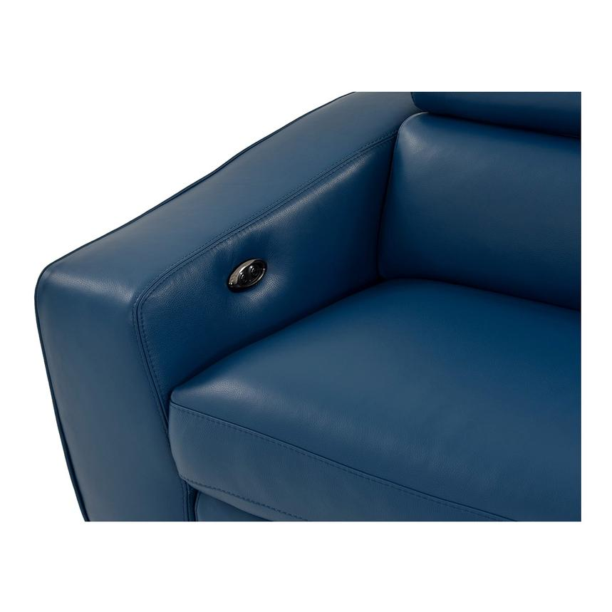 James Blue Power Motion Recliner Leather Sofa  alternate image, 6 of 10 images.