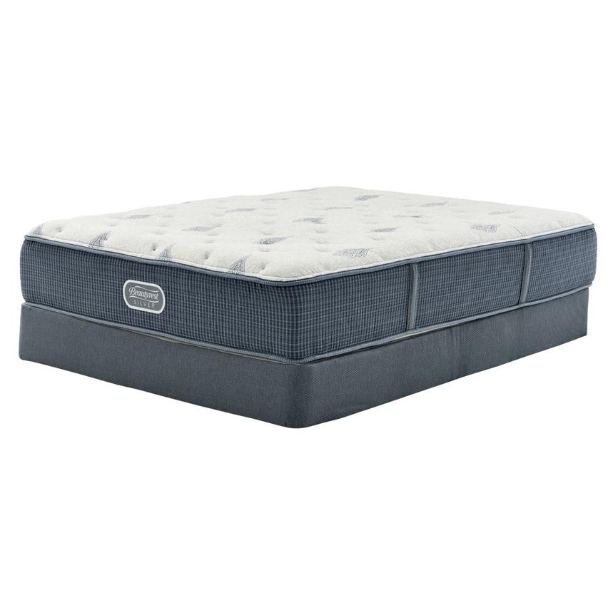 Bay Point Twin Mattress w/Low Foundation by Simmons Beautyrest Silver  main image, 1 of 4 images.