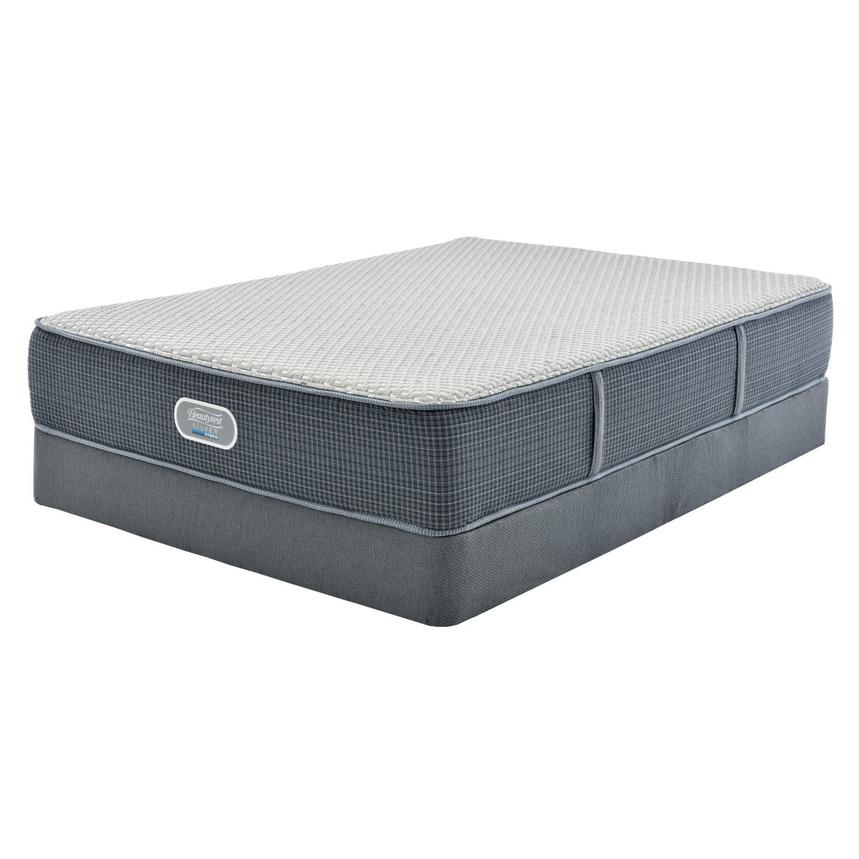 Marshall HB Full Mattress w/Low Foundation by Simmons Beautyrest Silver  main image, 1 of 4 images.