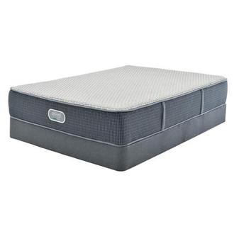 Marshall HB Twin Mattress w/Low Foundation by Simmons Beautyrest Silver