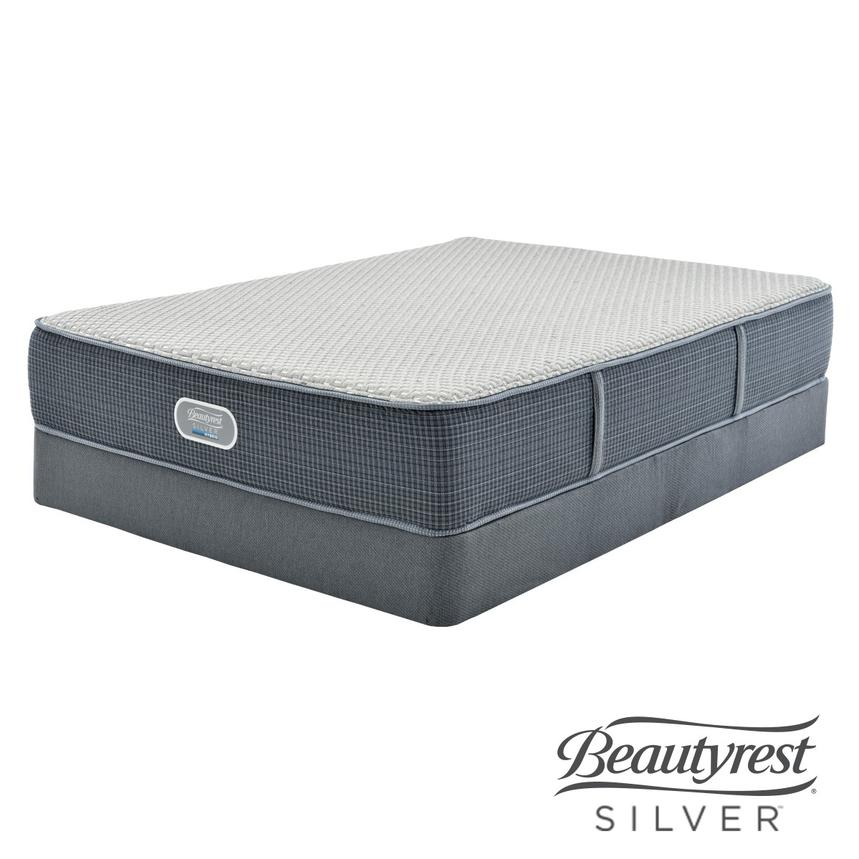 Marshall HB Full Mattress w/Low Foundation by Simmons Beautyrest Silver  main image, 1 of 5 images.