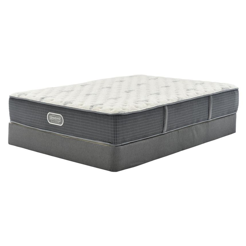 Bay Point Queen Mattress w/Regular Foundation by Simmons Beautyrest Silver  main image, 1 of 4 images.
