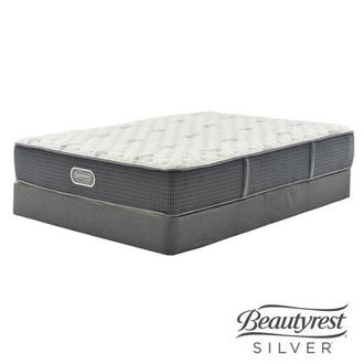 Bay Point Twin XL Mattress w/Low Foundation by Simmons Beautyrest Silver