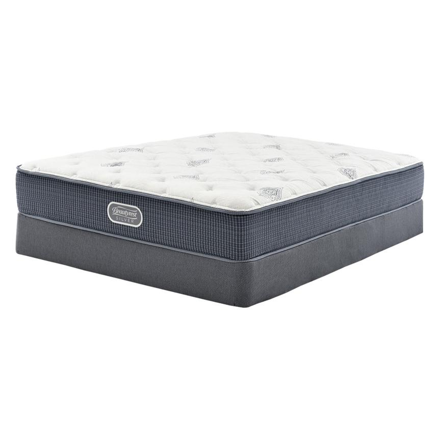 Ocean Springs Twin Mattress w/Low Foundation by Simmons Beautyrest Silver  main image, 1 of 4 images.