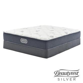 Ocean Springs Queen Mattress w/Low Foundation by Simmons Beautyrest Silver