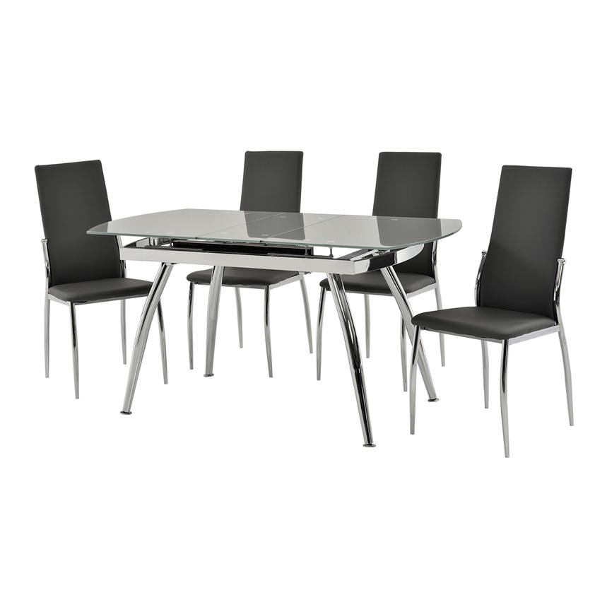Luna Gray 5-Piece Casual Dining Set  alternate image, 2 of 11 images.