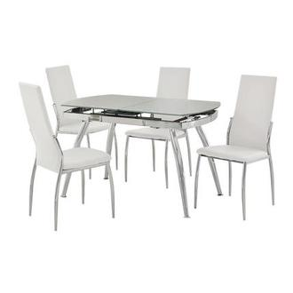 Luna White 5-Piece Casual Dining Set