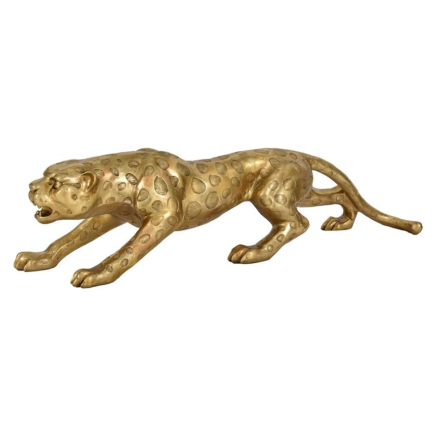 Gold Leopard Figure  main image, 1 of 4 images.