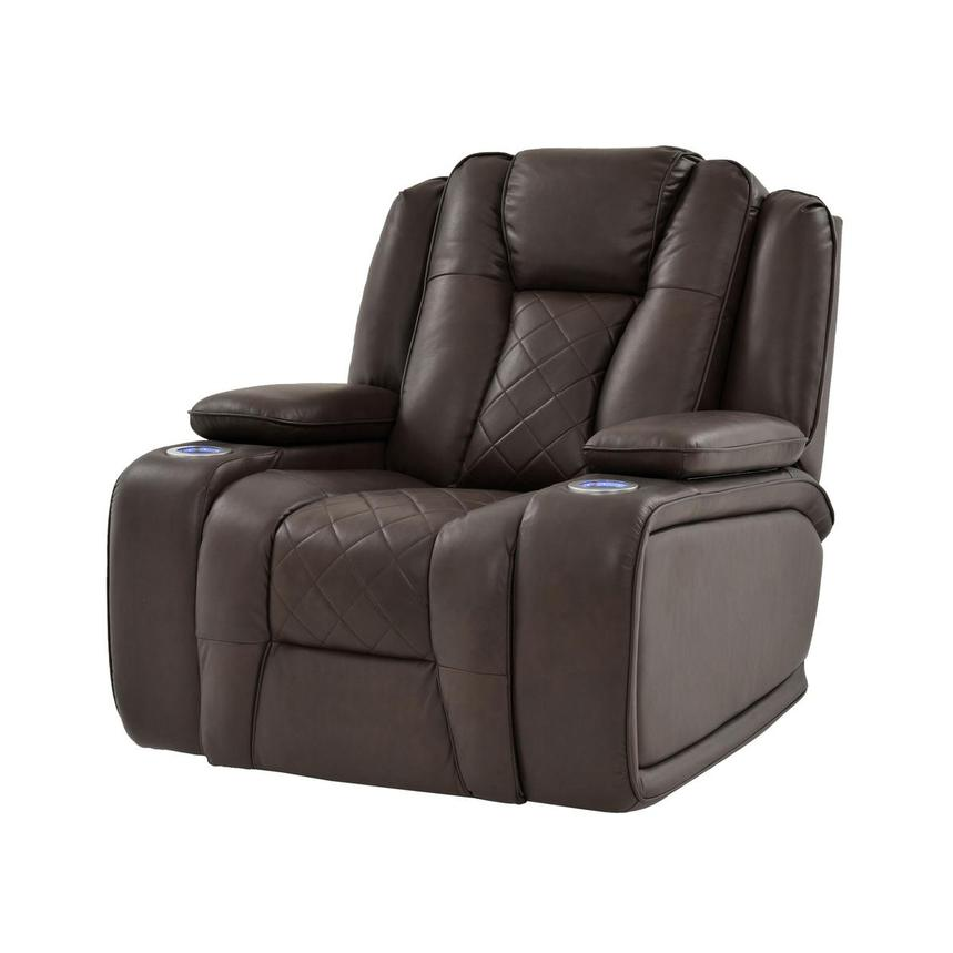 Chanel Brown Motion Recliner Main Image 1 Of 12 Images