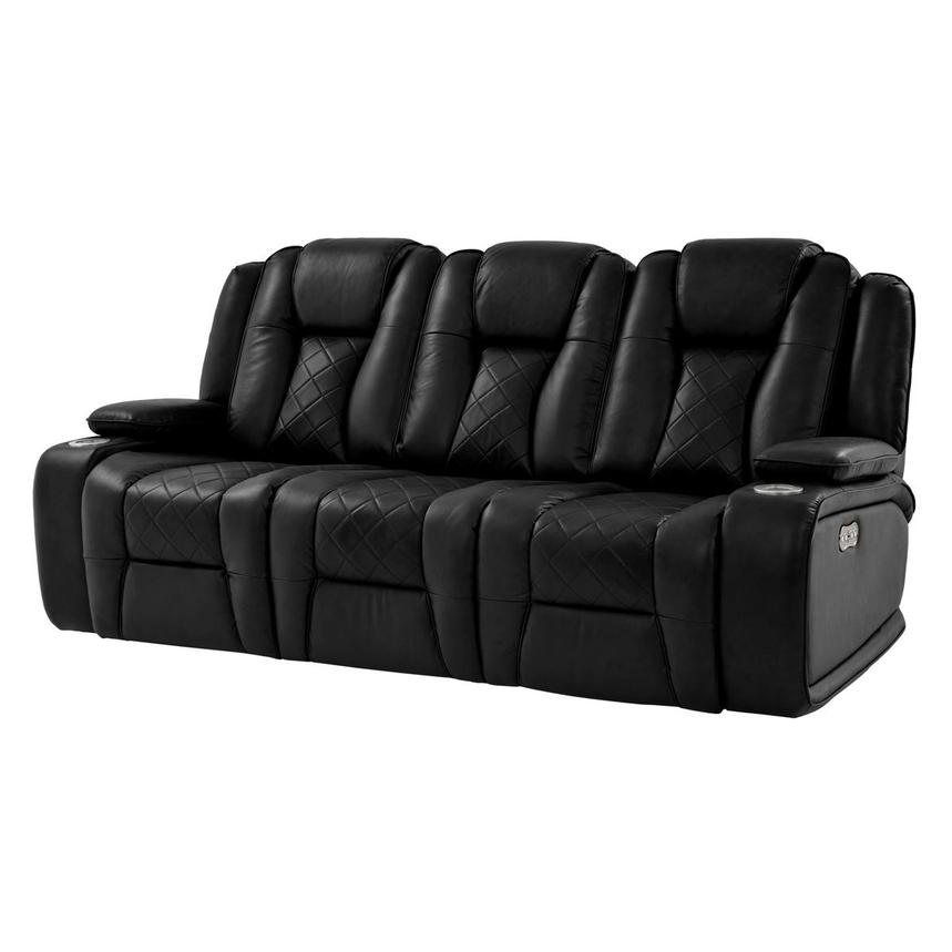 Chanel Black Power Motion Sofa  main image, 1 of 15 images.