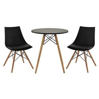 Annette Black 3-Piece Casual Dining Set
