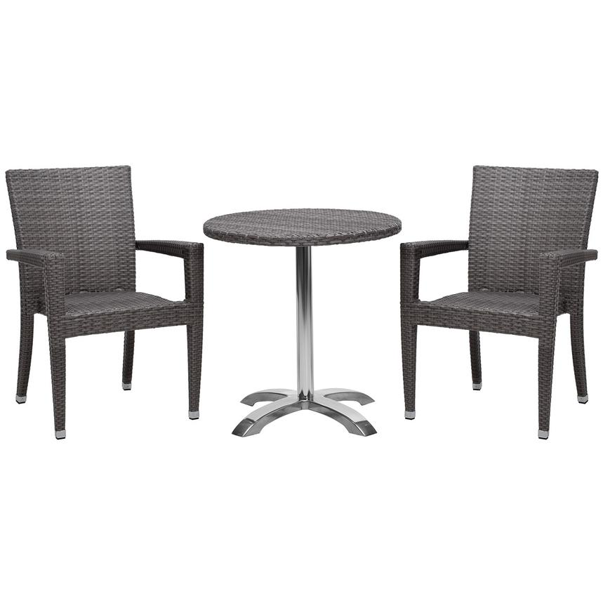 Gerald/Neilina Gray 3-Piece Patio Set  main image, 1 of 9 images.