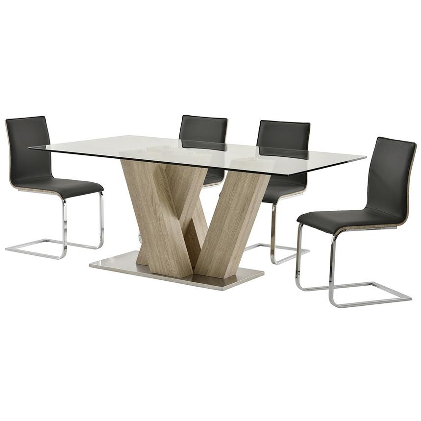 Solimar Gray 5-Piece Casual Dining Set  alternate image, 2 of 10 images.