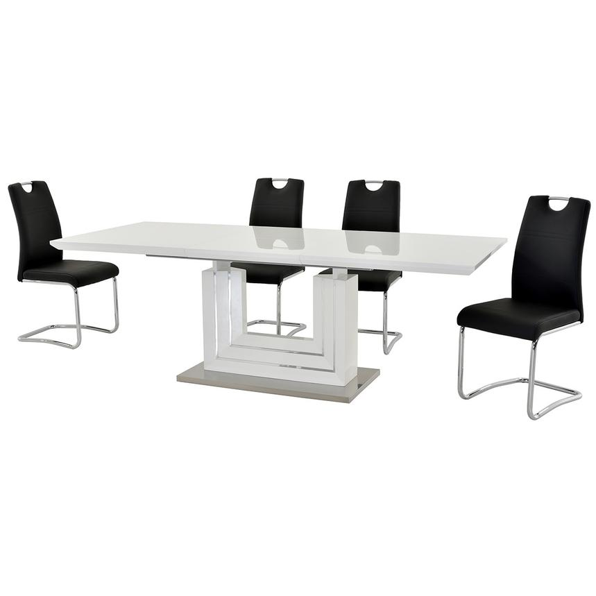 Lila Black 5-Piece Casual Dining Set  alternate image, 2 of 13 images.