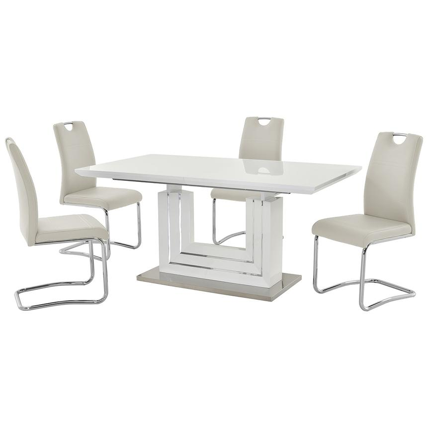 Lila White 5-Piece Casual Dining Set  main image, 1 of 13 images.