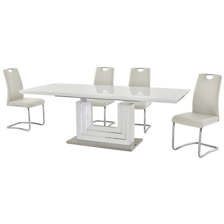 Lila White 5-Piece Casual Dining Set  alternate image, 2 of 12 images.