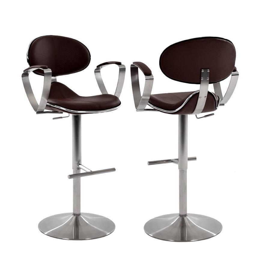 Jaylo Brown Adjustable Stool El Dorado Furniture