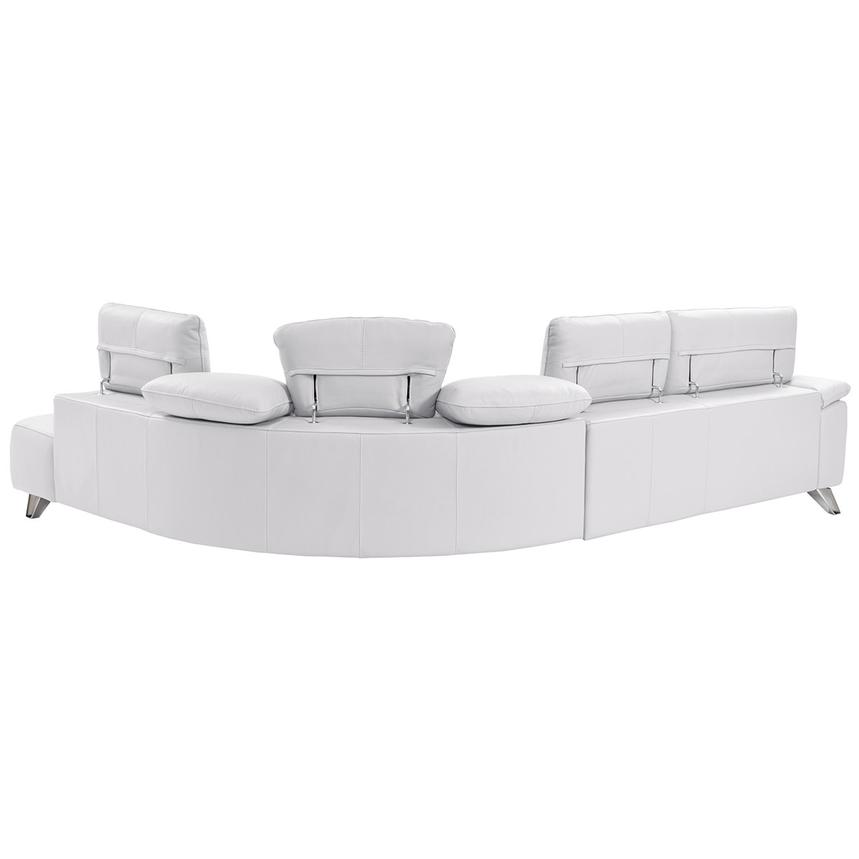 Tesla White Leather Sofa w/Right Chaise  alternate image, 2 of 8 images.