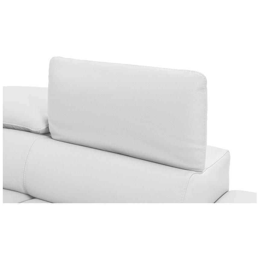Tesla White Leather Sofa w/Right Chaise  alternate image, 6 of 8 images.