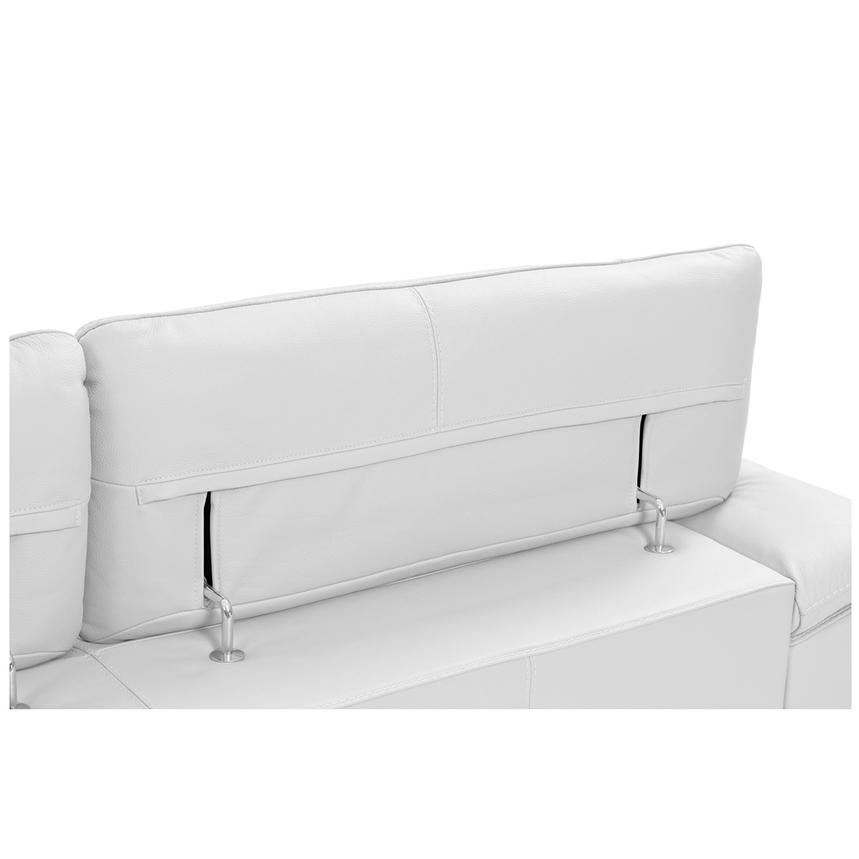 Tesla White Leather Sofa w/Right Chaise  alternate image, 7 of 8 images.