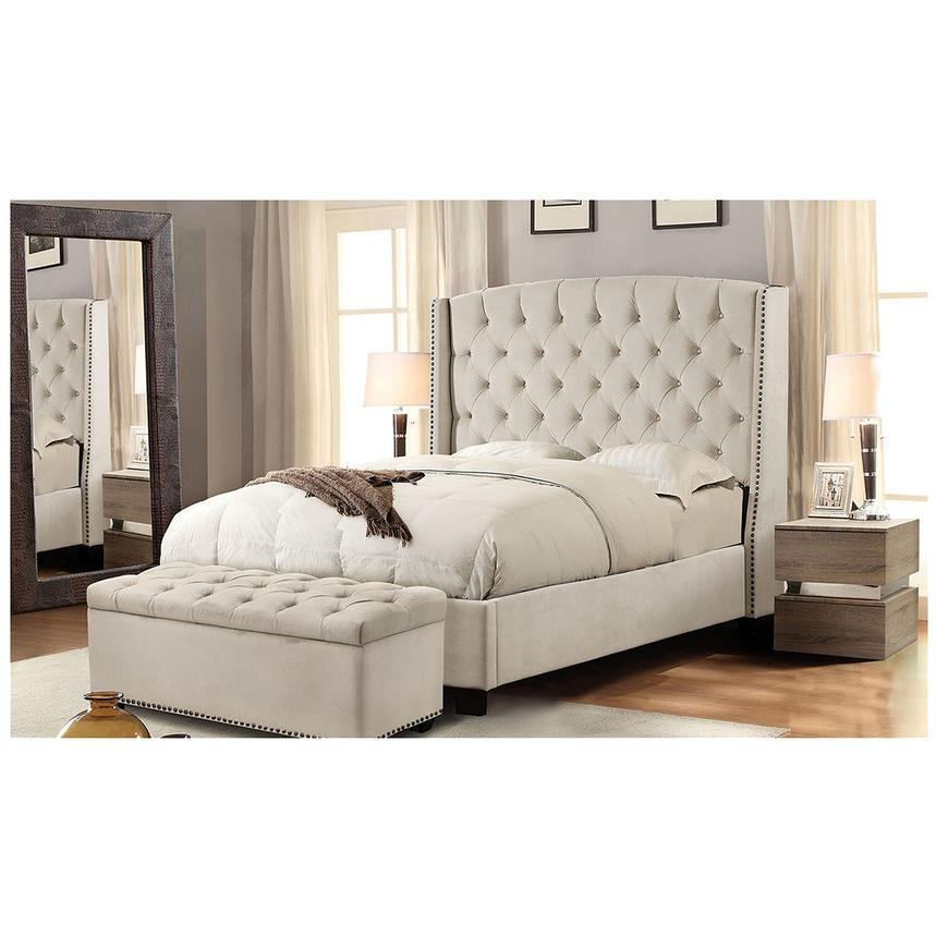 Majestic Beige King Platform Bed  alternate image, 2 of 6 images.