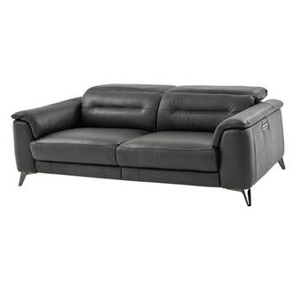 Anabel Gray Power Motion Leather Sofa