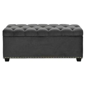 Majestic Gray Storage Bench