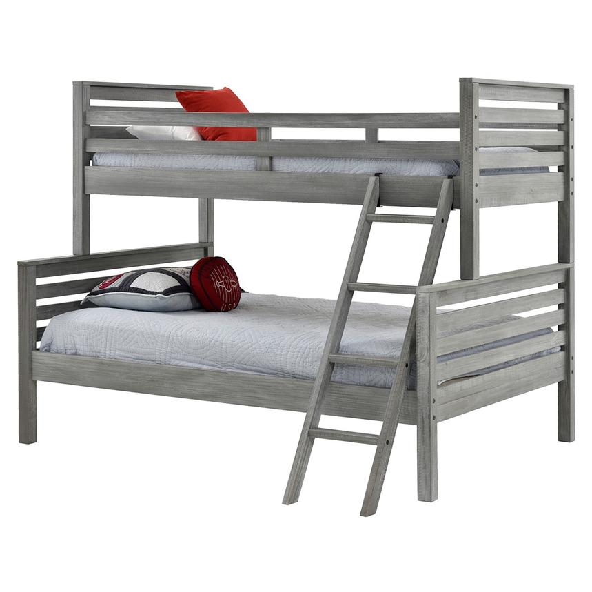 Montauk Gray Twin Over Full Bunk Bed Made in Brazil  main image, 1 of 5 images.
