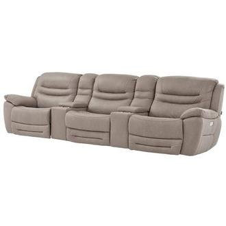 Dan Light Gray Home Theater Seating