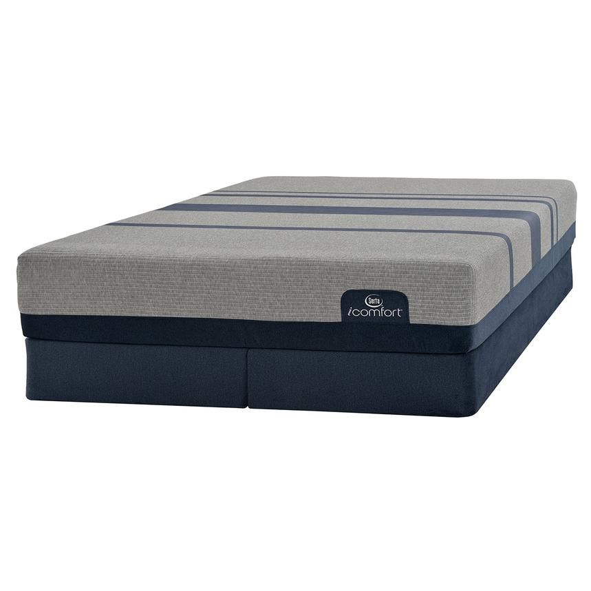 iComfort Blue Max 1000 Cushion Firm King Mattress w/Low Foundation by Serta  main image, 1 of 3 images.