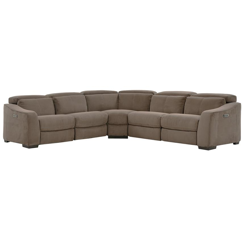 Jameson Brown Power Motion Sofa W/Right U0026 Left Recliners Main Image, 1 Of