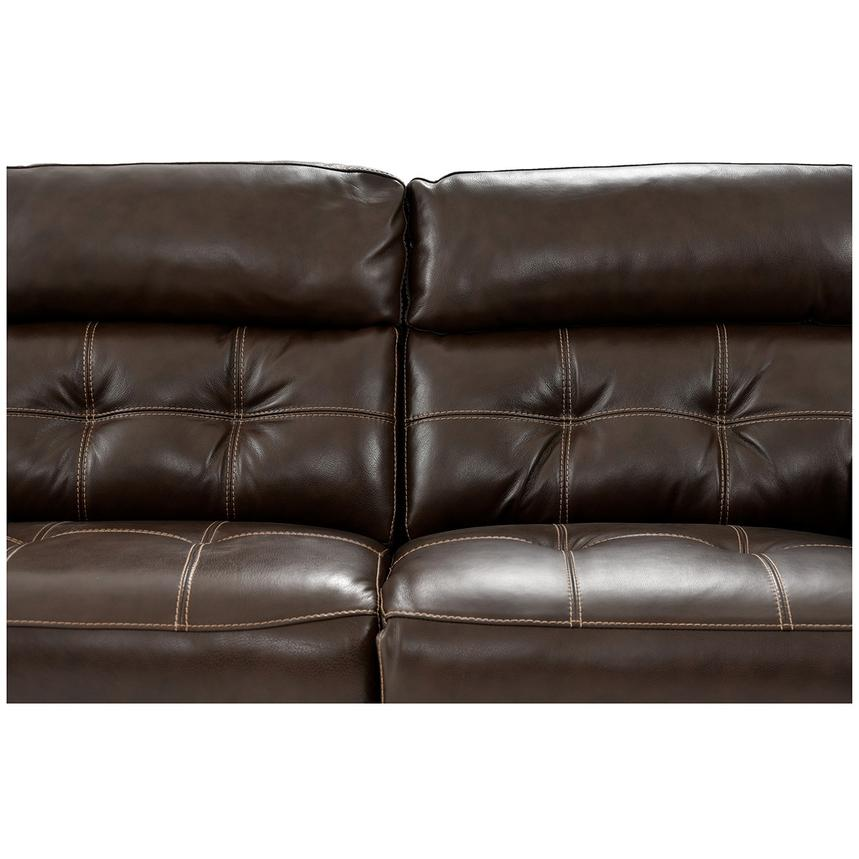 Stallion Brown Power Motion Leather Sofa w/Right & Left Recliners  alternate image, 7 of 9 images.
